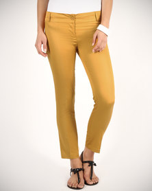 Mint Capri Pants Mustard Yellow