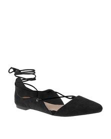 Miss Black Carling Flat Ballerina Pump Black