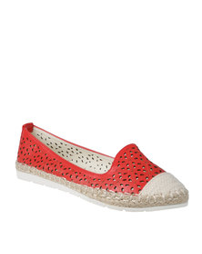 Miss Black Florance Casual Slip On Red