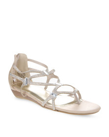 Miss Black Heidi Sandals Nude