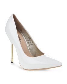 Miss Black Kate Heels White