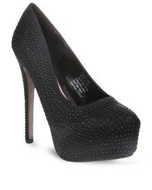 Miss Black Hayek Heels Black