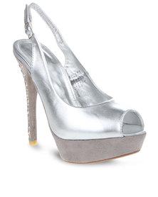 Miss Black Ang 1 Heels Silver