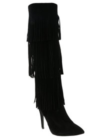 Miss Black Phoenix 1 Knee High Boot Black