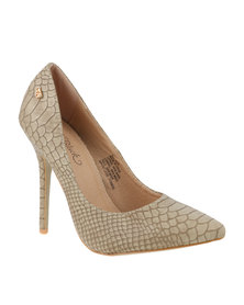 Miss Black Skin1 Heel Shoes Taupe