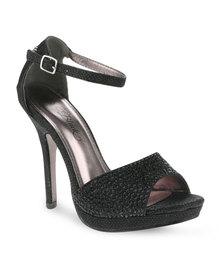 Miss Black Rebecca Heels Black