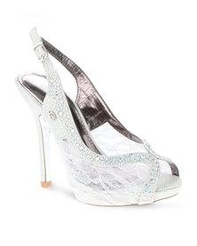Miss Black Evelyn Heels Silver