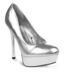 Miss Black Toni 1 Heels Silver