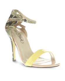 Miss Black Zoey Heels Yellow