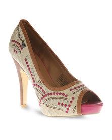 Miss Black Diaz Heels Pink