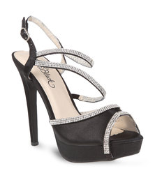 Miss Black Pearl Heels Black
