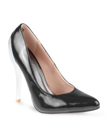 Miss Black Peach Heels Black
