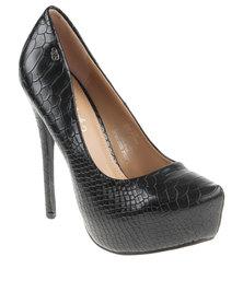 Miss Black Libra1 Platform Heel Shoe Black