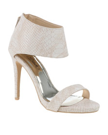 Miss Black Lorelle Ankle Cuff High Heel Ivory *Exclusive to Zando