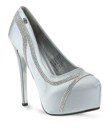 Miss Black Sinatra Heels Silver