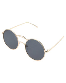 Miss Maxi Round Sunglasses Gold-tone