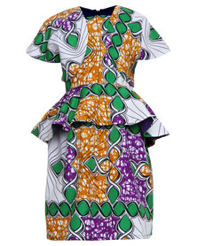 Miss Molly Gabby Traditional Dress Multi-Coloured