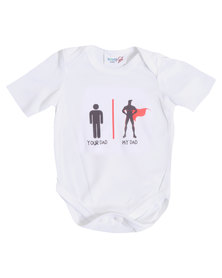 "Moederliefde ""Your dad, My Dad"" Short Sleeve Baby Bodyvest"