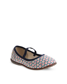 Molekinha Floral Pumps Navy