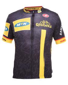 MTN Qhubeka Jersey SS Full Zip Black