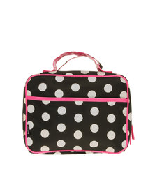 My Accessories Polka Dot Organiser Black