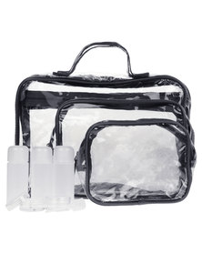 My Accessories 3-in-1 Travel Bag Set Black