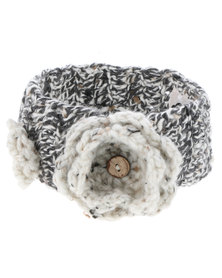 Myang Speckled Headband with Flowers Brown