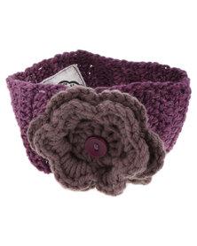 Myang Headband with Flower Purple