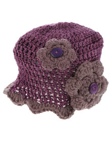Myang Cap with Flower Purple