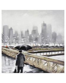 Nacistore Man On Bridge Canvas Print