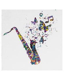 Nacistore Retro Saxophone Canvas Print