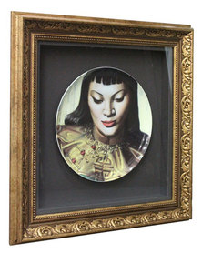 Nacistore Tretchikoff Lady From Orient Boxed Framed Plate Multi