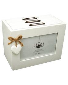 Nacistore Photo Box With Heart White