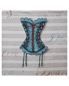 Nacistore Canvas Print Corset 11 Wall Art Multi