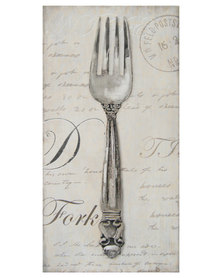 Nacistore Canvas Print Fork Wall Art Grey