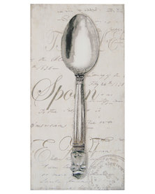 Nacistore Canvas Print Spoon Wall Art Grey