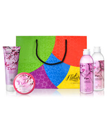 Nature's Carnival Hypnotic Amber and Rose Petals Pamper Pack in Gift Bag