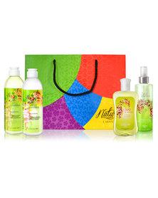 Nature's Carnival Raspberry Vanilla Cream Shower Pack in Gift Bag