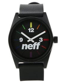 NEFF Daily Black Spectrum Watch Multi