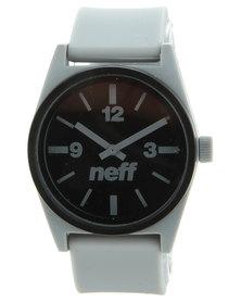 NEFF Deuce Black Dial Watch Grey