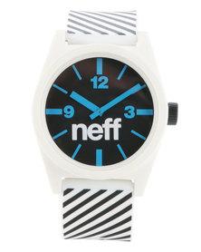 Neff Daily Stripe Watch White and Black