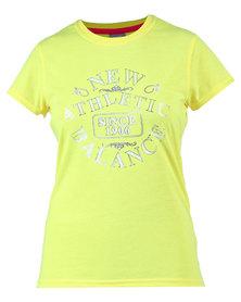 New Balance Foil Stamp T-Shirt Yellow
