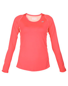 New Balance Performance WRT4327 Accelerating Long Sleeve Coral