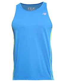 New Balance Performance Accelerate Singlet Vest Blue