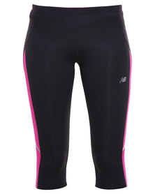New Balance Performance Go 2 Capri Running Pants Black