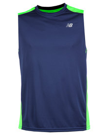 New Balance Go 2 Sleeveless Vest Blue
