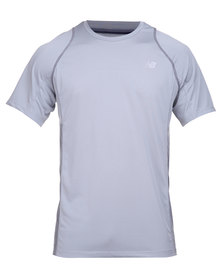 New Balance Performance Accelerate Short Sleeve Tee Grey
