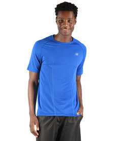 New Balance Nbx Minimus Short Sleeve Tee Electric Blue