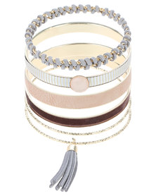 New Look CR Wrapped Bangle Metallic Pink