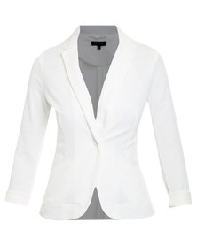 New Look Jersey Blazer White